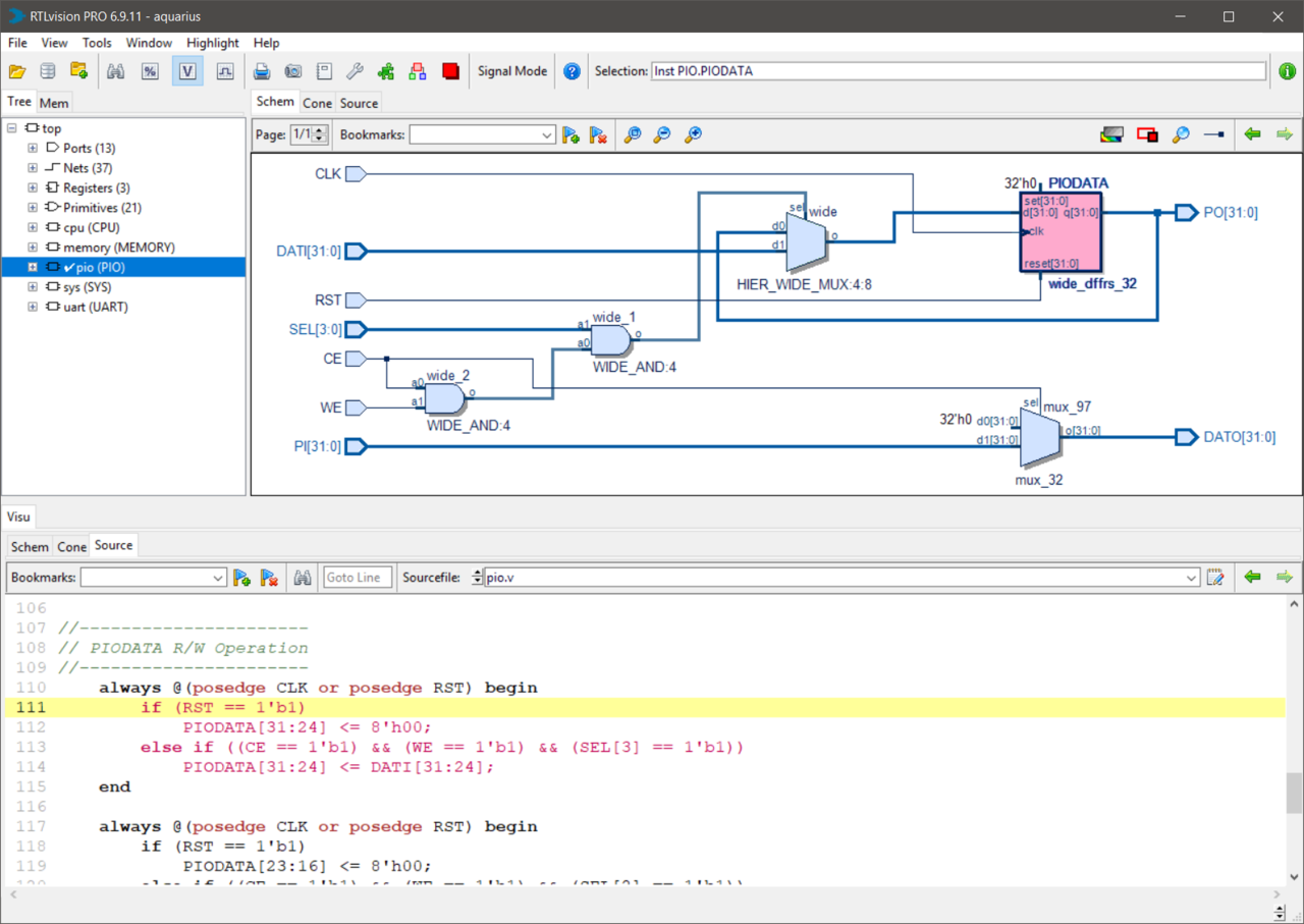 RTLvision: Verilog and VHDL Debugger and Viewer